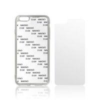 Чехол для IPhone 6+ силикон прозрачный с гибкой глянцевой вставкой премиум