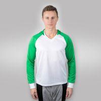 Футболка мужская с зелеными дл рукавами и капюшоном — 42 (XS)