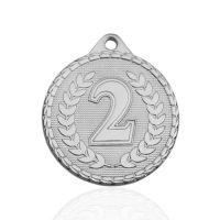 Медаль корпусная MK238b серебро D медали 32мм второе место