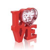 Рамка водяная LOVE с хлопьями в виде сердечек в инд. упаковке 110х100мм премиум