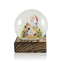 Шар водяной Дед Мороз со снеговиком с хлопьями снежинки 100x100x117мм D100